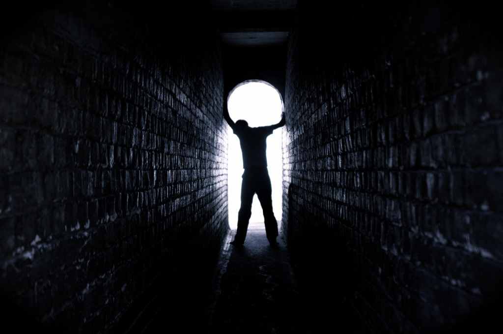 Light in a tunnel