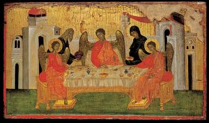 Abraham and 3 angels