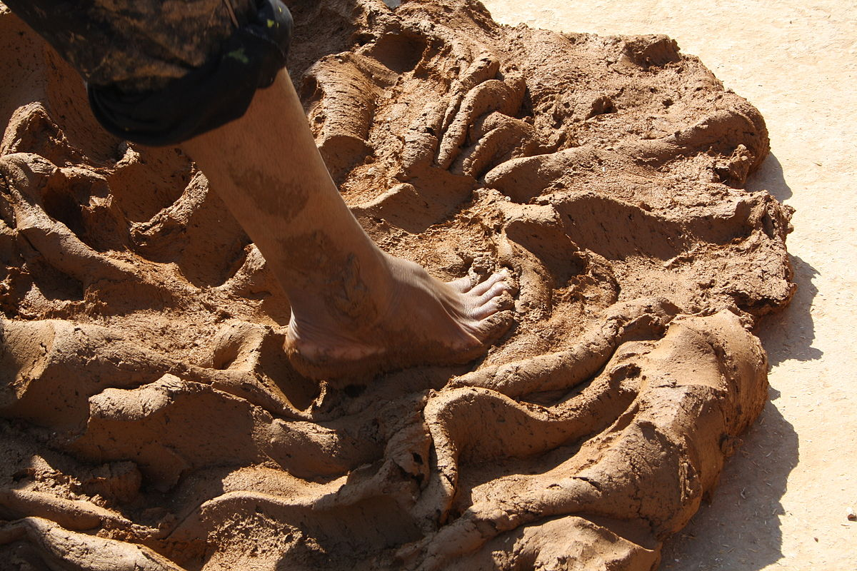 Feet shaping clay