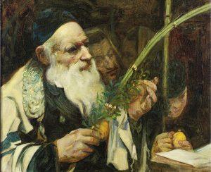 Man examining citron