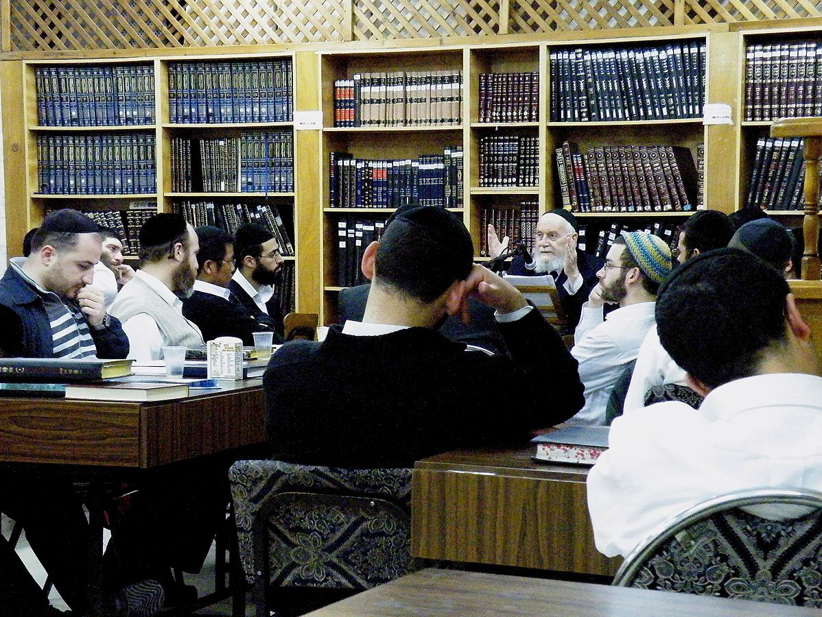 Men Studying Talmud