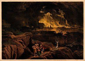 Lot leaves Sodom