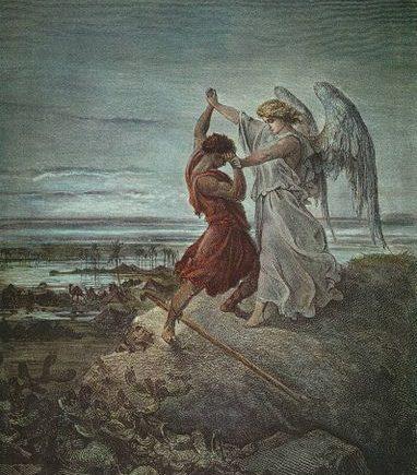 Jacob Wrestles Angel