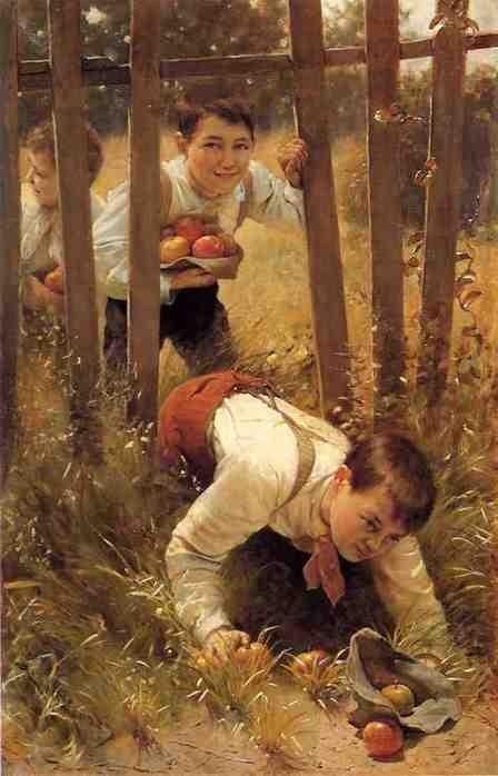 Boys Stealing Apples