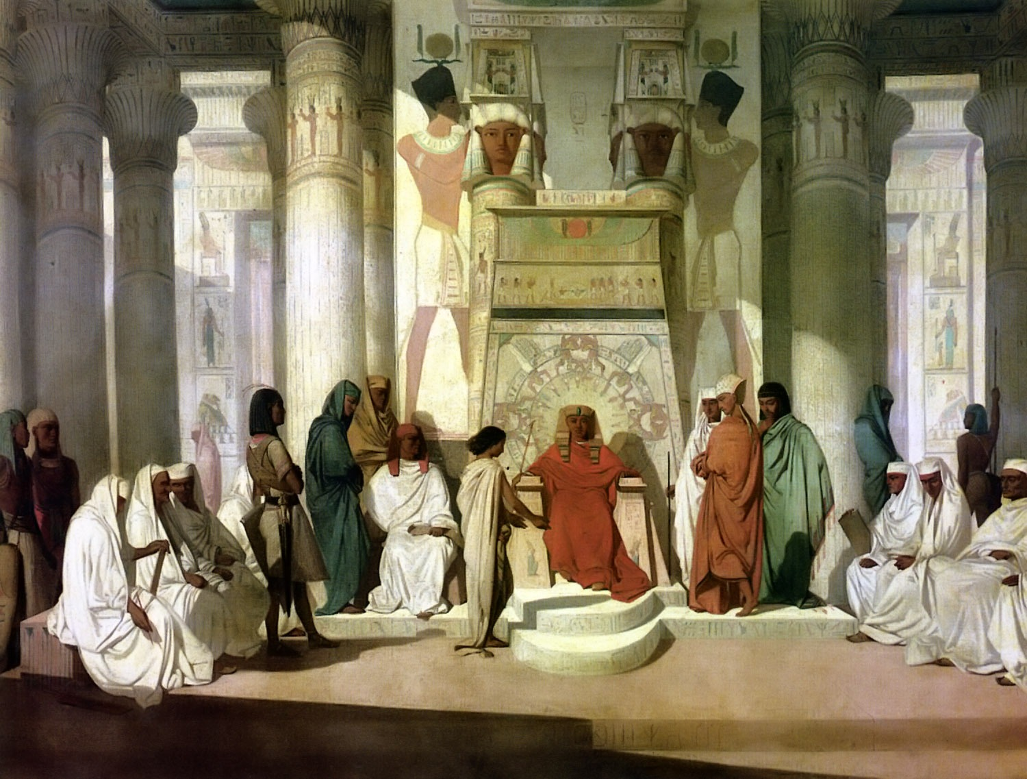 Joseph Explaining the Dream to Pharoah, Jean Adrien Guignet